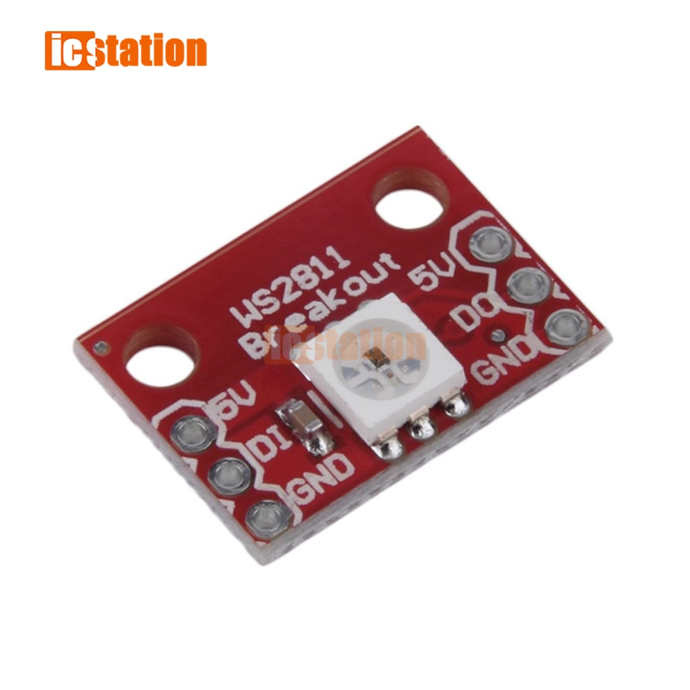 Marca Nuevo rojo WS2812 RGB 5050 LED Breakout Módulo de alta calidad Venta caliente