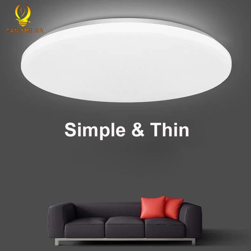 Lámparas de Panel de luz LED ultradelgadas, luces de techo Led de montaje superficial, lámparas redondas de 220V 30W 50W, lámparas para sala de estar, cocina