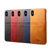 luxury pu genuine leather cover for iphone 6 6s plus 7 8 plus x xr xs 11 pro max for samsung s10 plus note10 pro phone card case