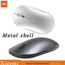 Original Xiaomi Mi Fashion Mouse Bluetooth Wireless Game Mouse 1000DPI 2.4GHz WiFi link Optical Mouse Mini Portable Metal Mouse