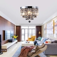led villa living room crystal ceiling lamp bedroom study chandelier dining hall corridor nordic modern lamps ceiling light