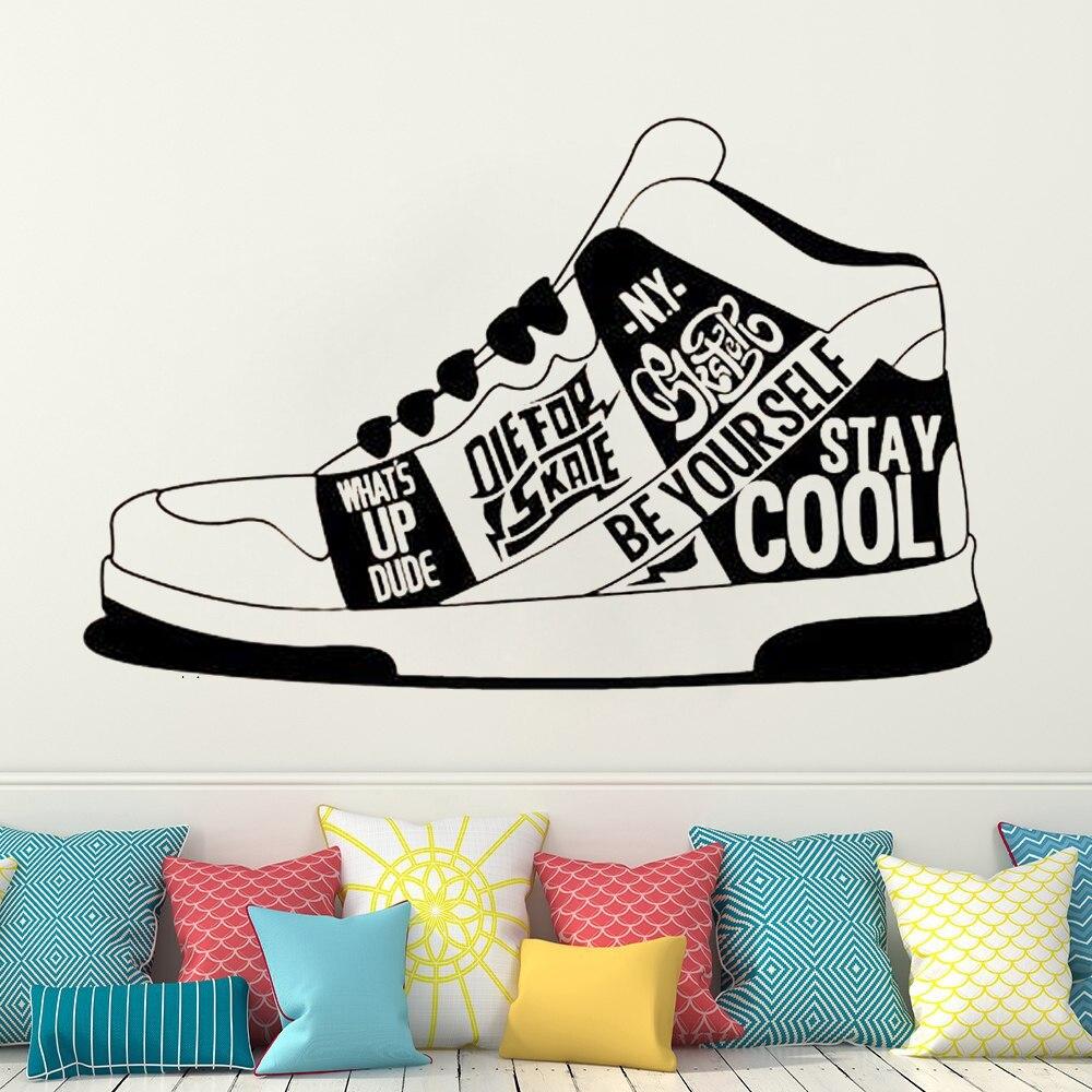 Calcomanía de vinilo para zapatos, zapatillas para adolescentes, adhesivos de decoración de habitaciones, Mural, calcomanías impermeables, decoración de zapatos HY1141