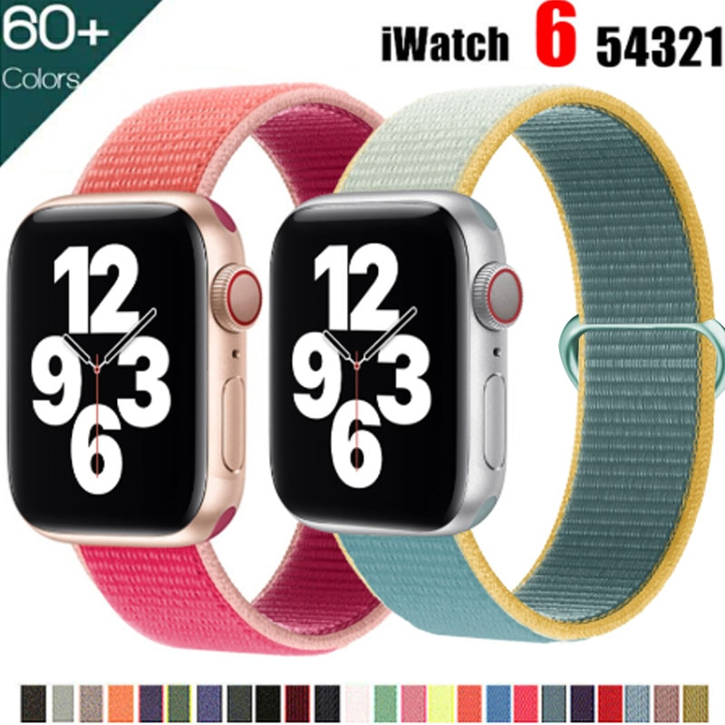 bumvor sport woven nylon band strap for apple watch 40 44mm 42 38mm wrist braclet belt fabric like for iwatch 4 3 2 1 edition Nylon Strap for Apple Watch 44mm 40mm 42mm 38mm Sport loop band iwatch 2 3 4 5 6 7 bracelet belt correa for Apple watch SE strap