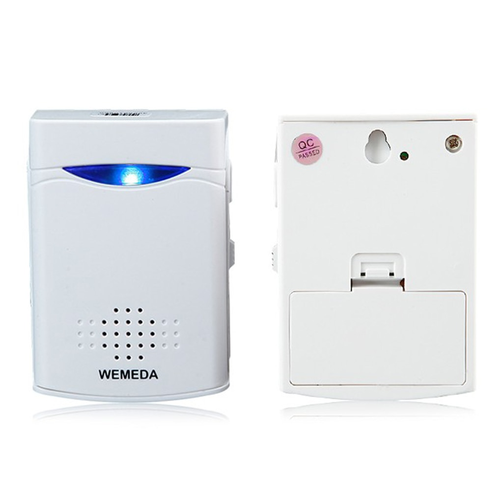 Battery Powered Wireless Doorbell Push Button Doorbell Ring for Home Security Access