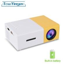 Touyinger YG-300 yg 300 Mini Portable poche projecteur LED Beamer YG300 YG310 LCD vidéo Proyector cadeau pour enfants HDMI / SD / USB