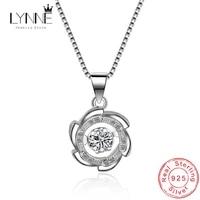 new fashion round whirl cz pendants chains women necklace 925 sterling silver jewelry windmill will dance rhinestone choker neck
