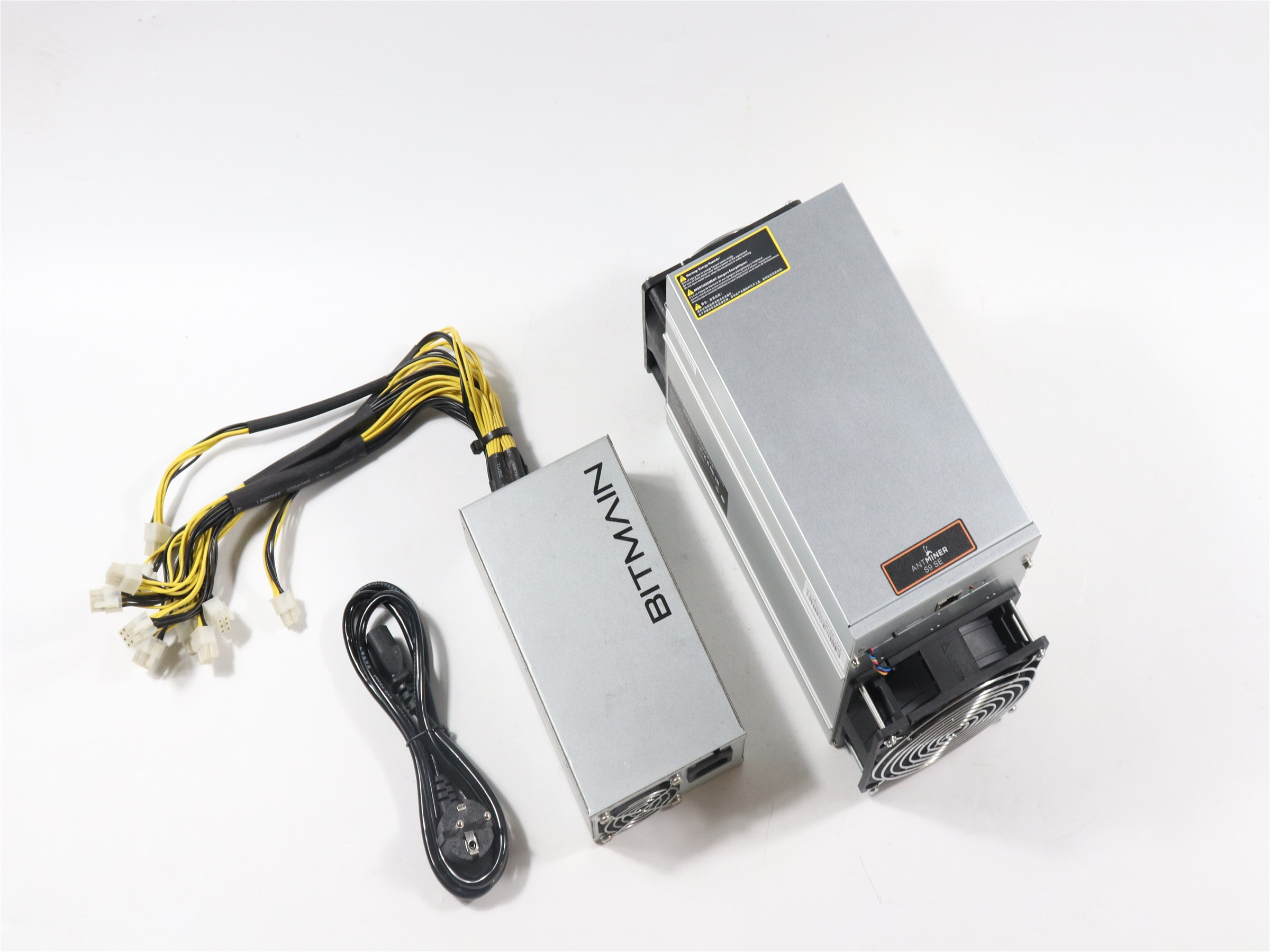 BITMAIN-AntMiner S9 SE 17TH/S مع مصدر طاقة ، جهاز تعدين BTC BCH أفضل من Antminer S9 13.5t 14t S9k S11 S15 S17 T9 T15 T17