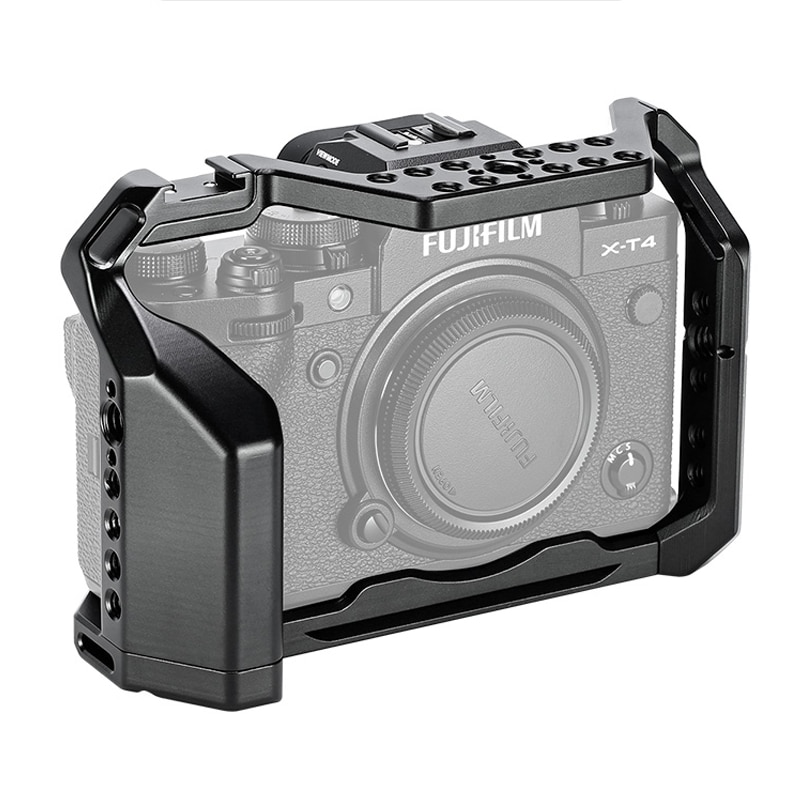 C-XT4 كاميرا قفص معدني ث/الحذاء جبل ل فوجي فيلم X-T4 التصوير فيديو اطلاق النار قفص كامل ميكروفون مصباح ليد الموضوع ثقوب
