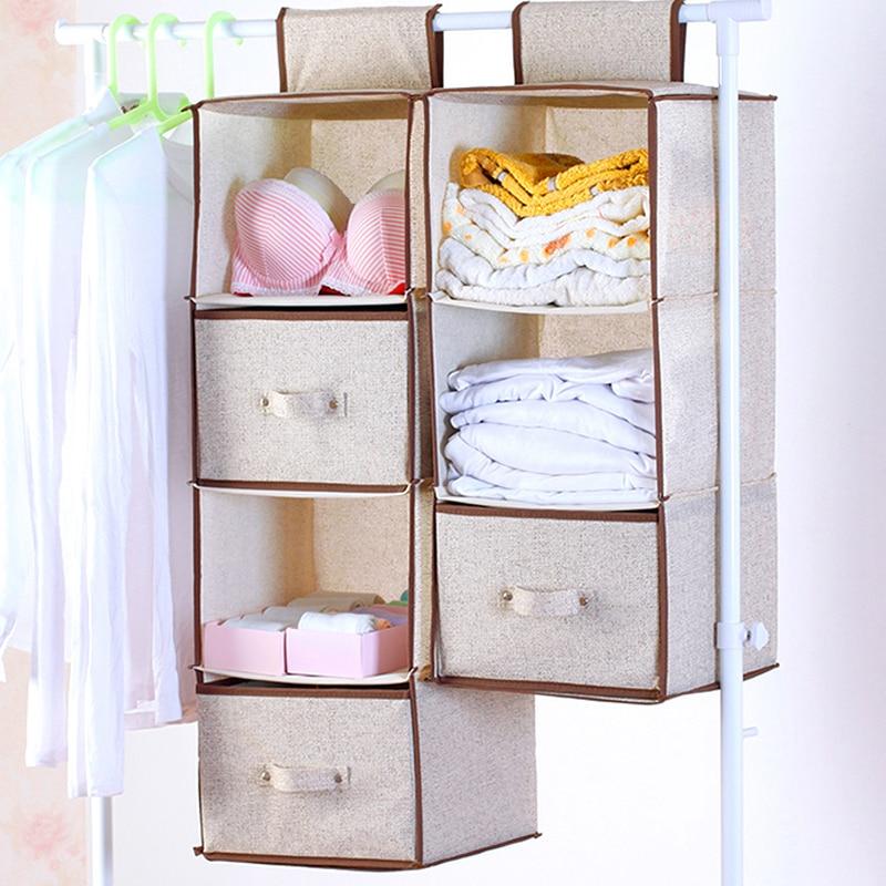 Organizador colgante De armario, cajón De almacenamiento para ropa, caja De artículos...