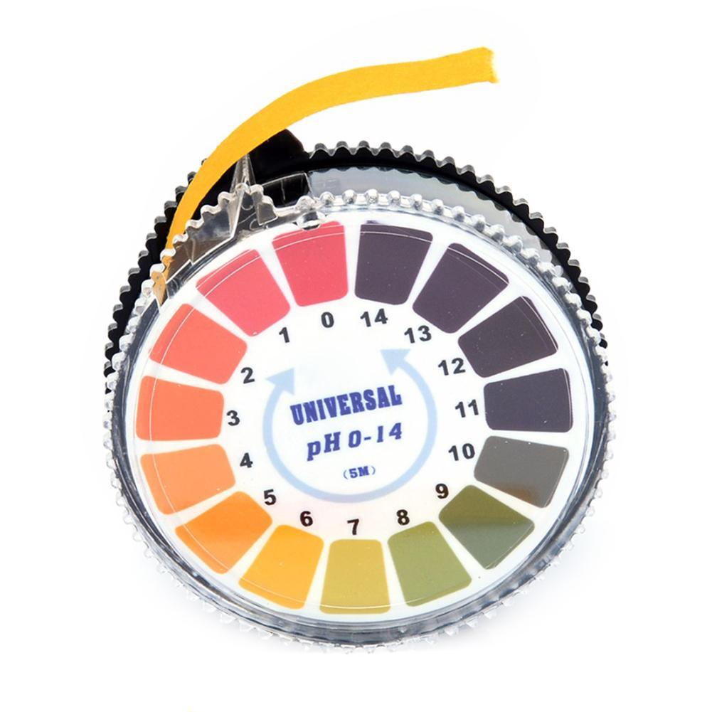 5M 0-14 PH Test Paper Strips Roll Alkaline Acid Indicator Paper For Aquarium Water Saliva Litmus Testing Analysis Instruments