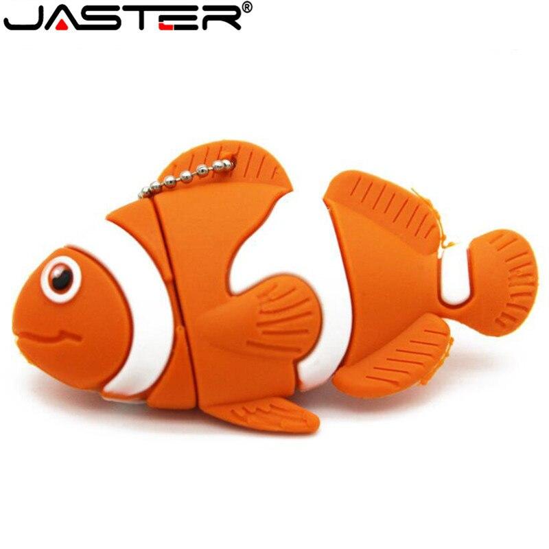 JASTER-Unidad flash USB 2,0 Nemo, pendrive de 4GB, 8GB, 16GB, 32GB, 64GB,...