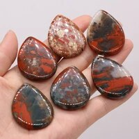 natural semi precious stones pendant african blood stone diy for jewelry making necklaces accessories gift
