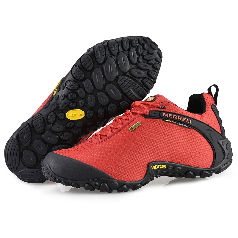 Authentique Merrell Men/Womes Breathable Mesh Camping Outdoor Sports Shoes For Male Waterproof Mountaineer Climbing shoes 39-44 merrell ботинки утепленные мужские merrell thermo fractal mid wp размер 42