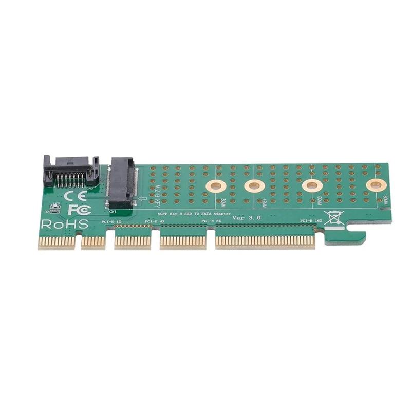 M.2 a CHAVE B Conversor Adaptador SSD SATA PCI-E Pci Express card Slot SATA Cable Kit