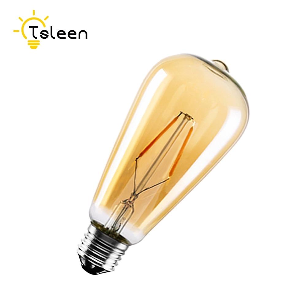 TSLEEN bombilla LED Edison E27 ST64 220V 8W 12W 16W Bombillas LED...
