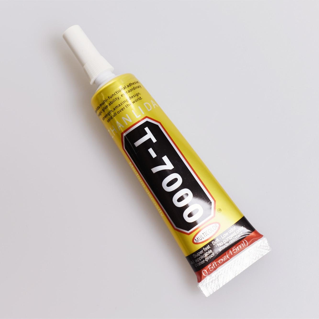1 Uds. Pegamento T-7000 de 15ml T7000 pegamento multiusos resina epoxi adhesivo reparación teléfono celular pantalla táctil LCD Super pegamento T 7000