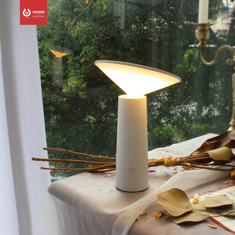 3 طرق Led ليلة ضوء الجدول مصباح بطارية نقالة الطاقة مصباح منضدة قابل للشحن