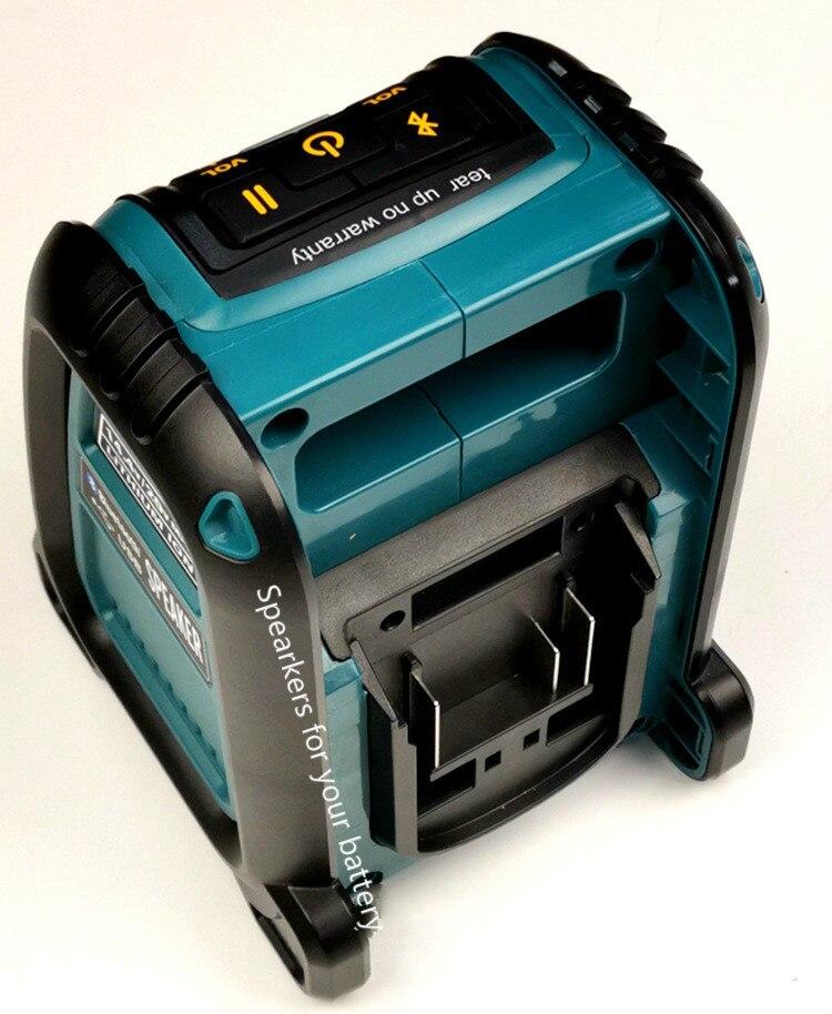 Para Dewalt Makita Milwaukee Bosch parlante USB Bluetooth Compatible con 14,4/18 V batería de litio
