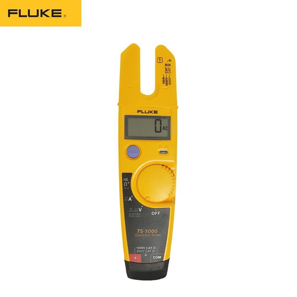 Testador de Continuidade de Tensão Medidor de Braçadeira Aberta de Alta Fluke Multímetro Precisão Portátil T5-1000