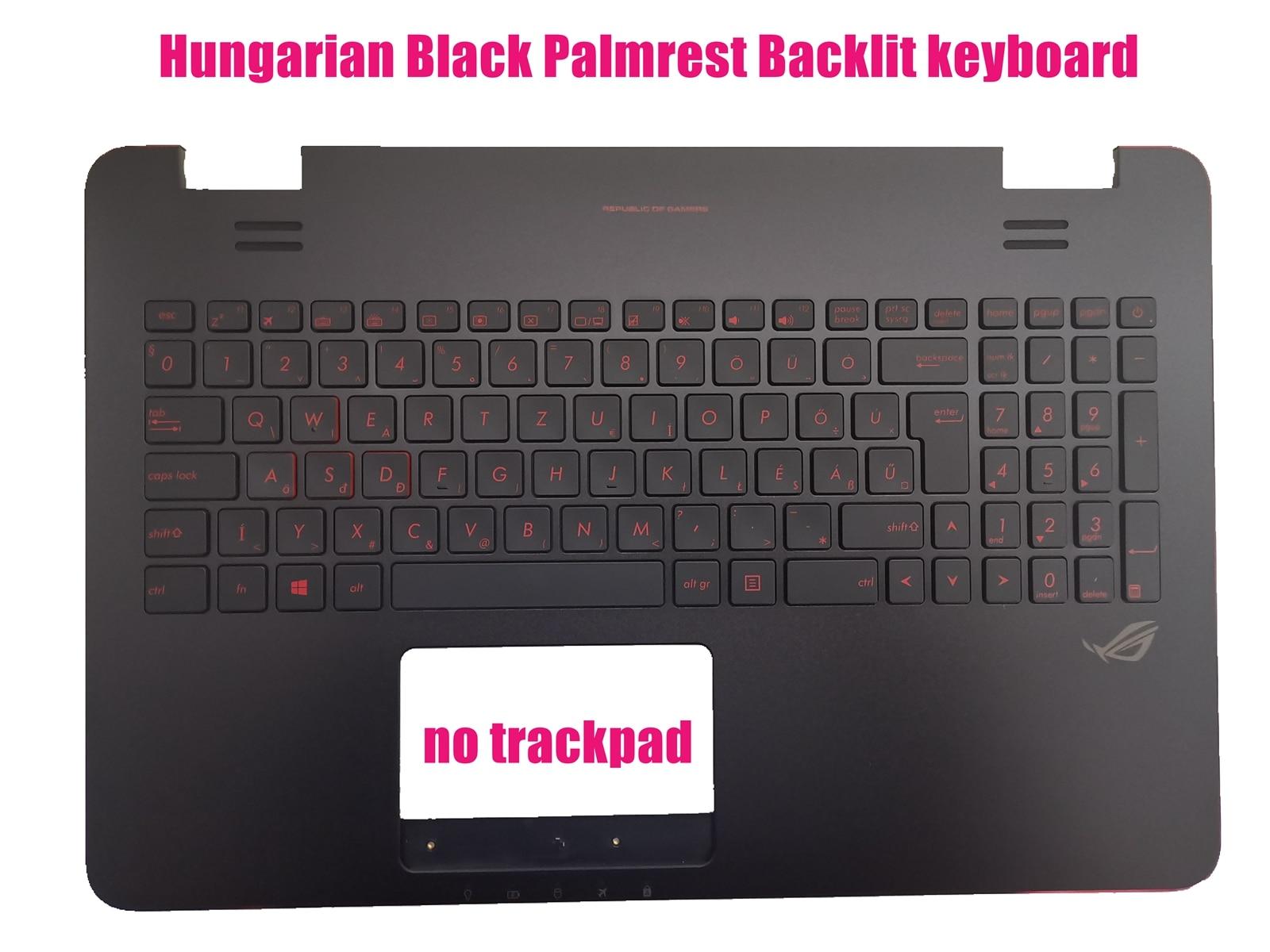 Hungarian Black Palmrest Backlit keyboard for Asus N551J/N551JB/N551JK/N551JM/N551JW/N551JX