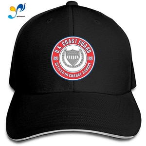 US Coast Guard Officer in Charge Ashore Men Cotton Classic Baseball Cap Adjustable Size