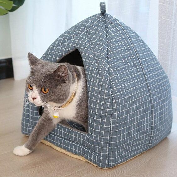 Pet Cat Bed Foldable Dog Mat Soft  Shape Dog Kennel Winter Pet Cave Cat House Warm Cats Nest Washable Dog Beds Pet Bed
