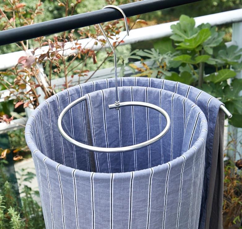 Сушилка из нержавеющей стали круглая Бытовая Полка для сушки простыней спирали