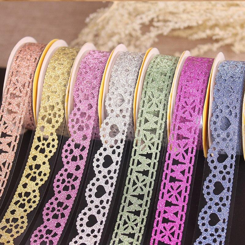 1 шт. 1 м Kawaii блестящая матовая кружевная лента для скрапбукинга лента для декорации Washi наклейка для скрапбукинга бумажная наклейка для твор...