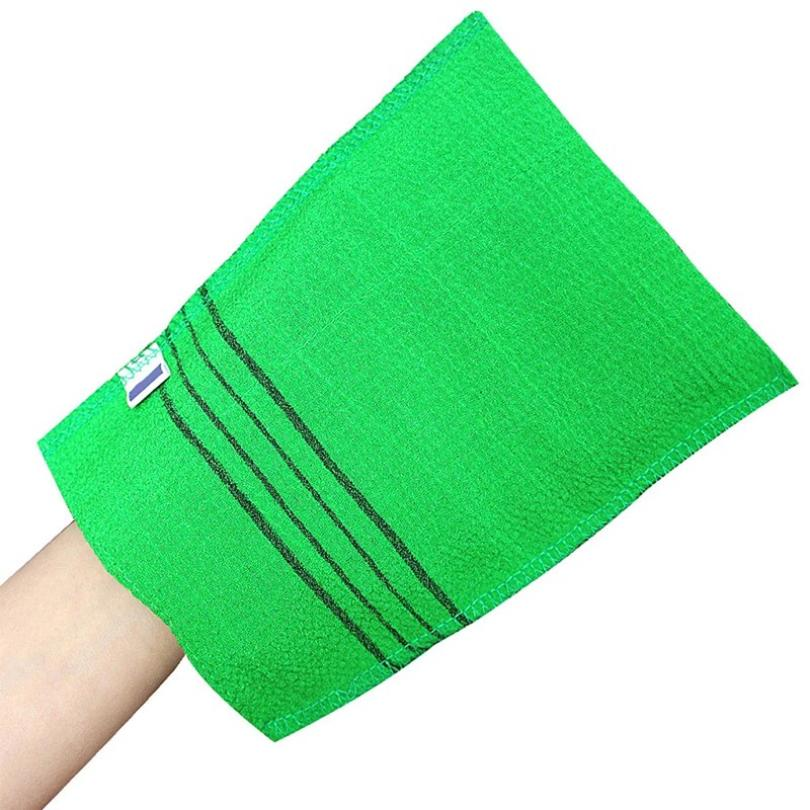 10PCS Korean Exfoliating Body Scrub Towel Bath Italy Towel Double-sided Body Washing Clean Exfoliati