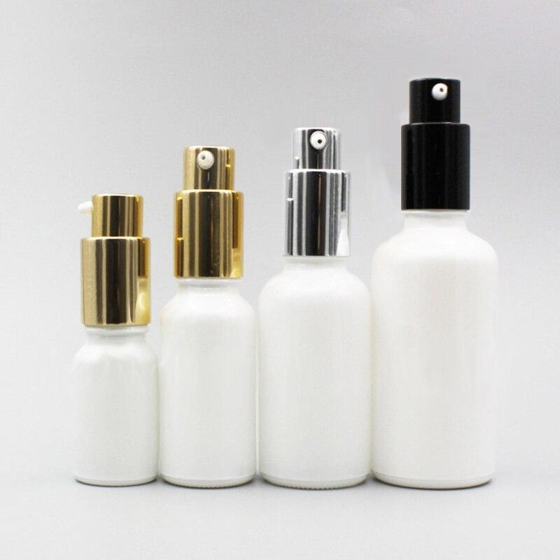 24 قطعة فارغة الأبيض زيت طبيعي مضخة زجاجة الذهب الأسود ميست رذاذ محلول مضخة 10 مللي 20 مللي 30 مللي 50 مللي