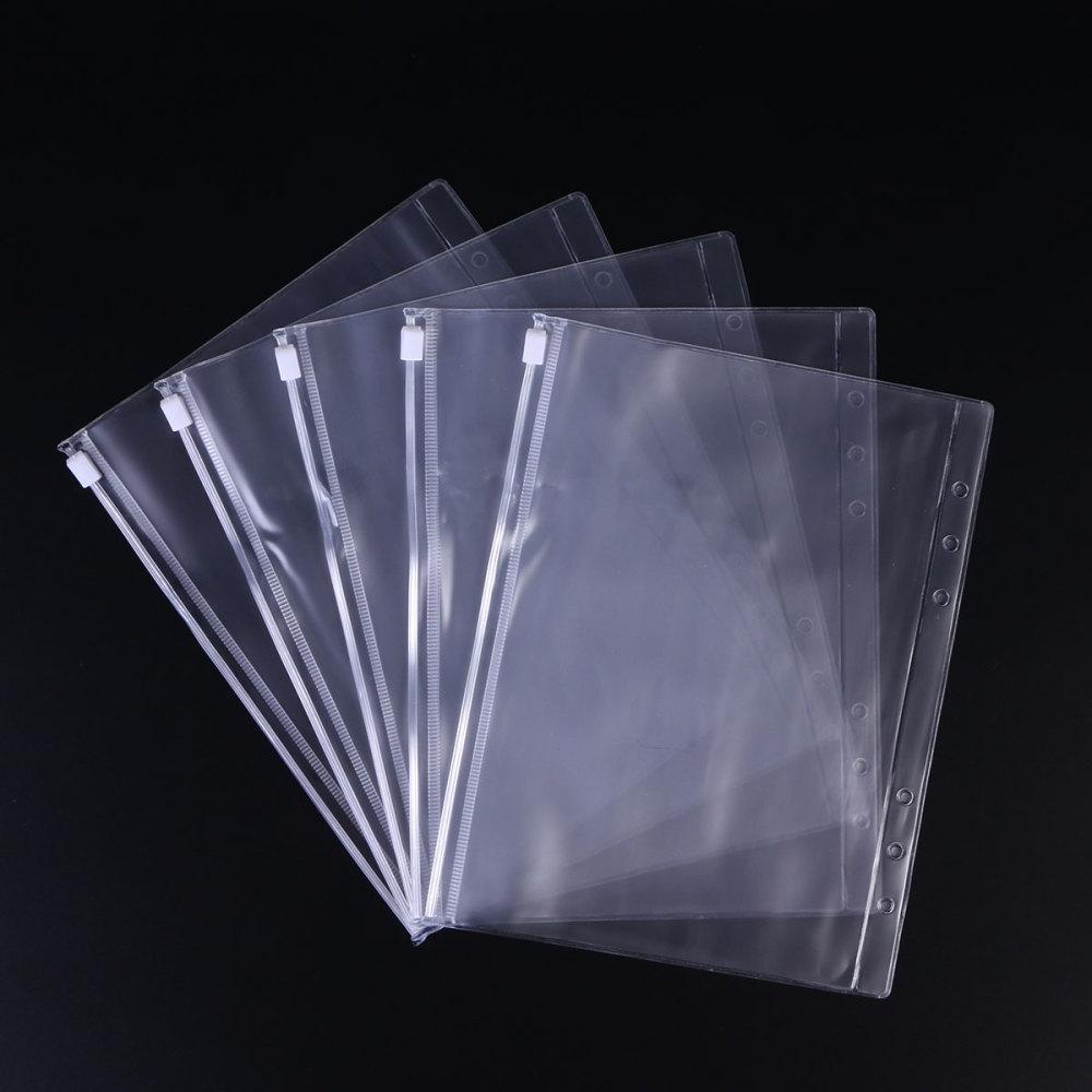 24pcs A5 Polypropylene Document Folder Clear Document Envelope Folder with Snap Button