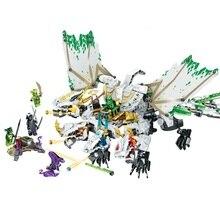 Compatible Lepining Ninjagoes  DIY Toy Gifts The Ultra Dragon Movie Flying Mecha Dragon Transformation DIY Building Block Sets