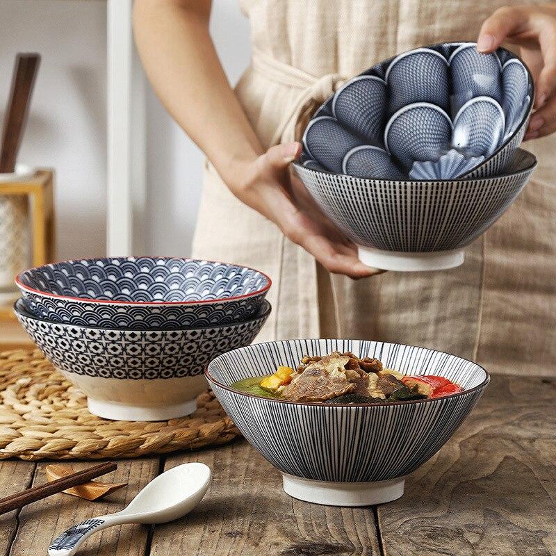 7 بوصة الشمال نمط الحديثة بسيطة أدوات مائدة سيراميك الأسرة مطعم شخصية قبعة نوع وعاء الأرز وعاء الحساء