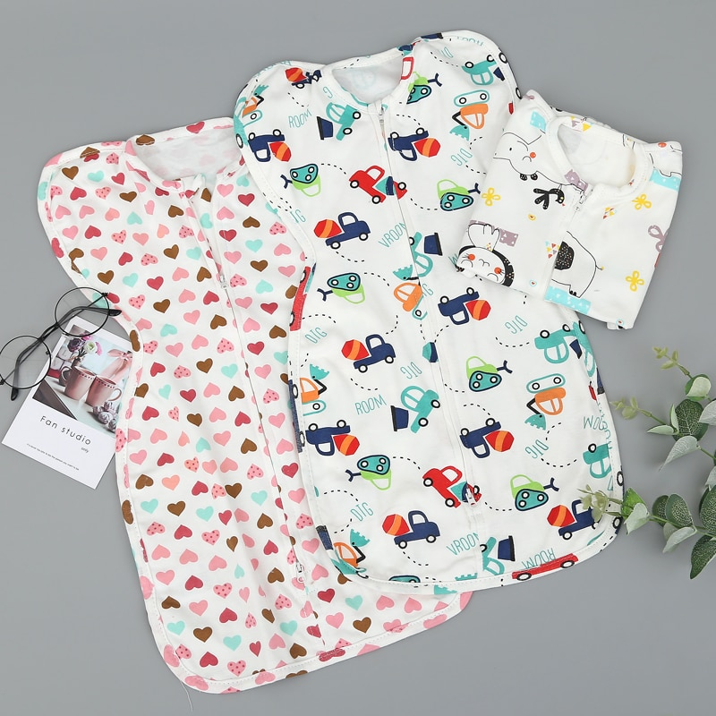 Ready Stock baby swaddle zip butterfly infant newborn swaddle balnket