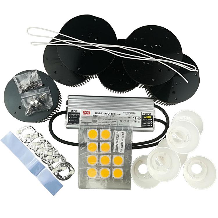 320w ciudadano clu048 1212 cob led crecer luz diy kit con 150mm disipador de calor Meanwell HLG-320H-C1400B conductor