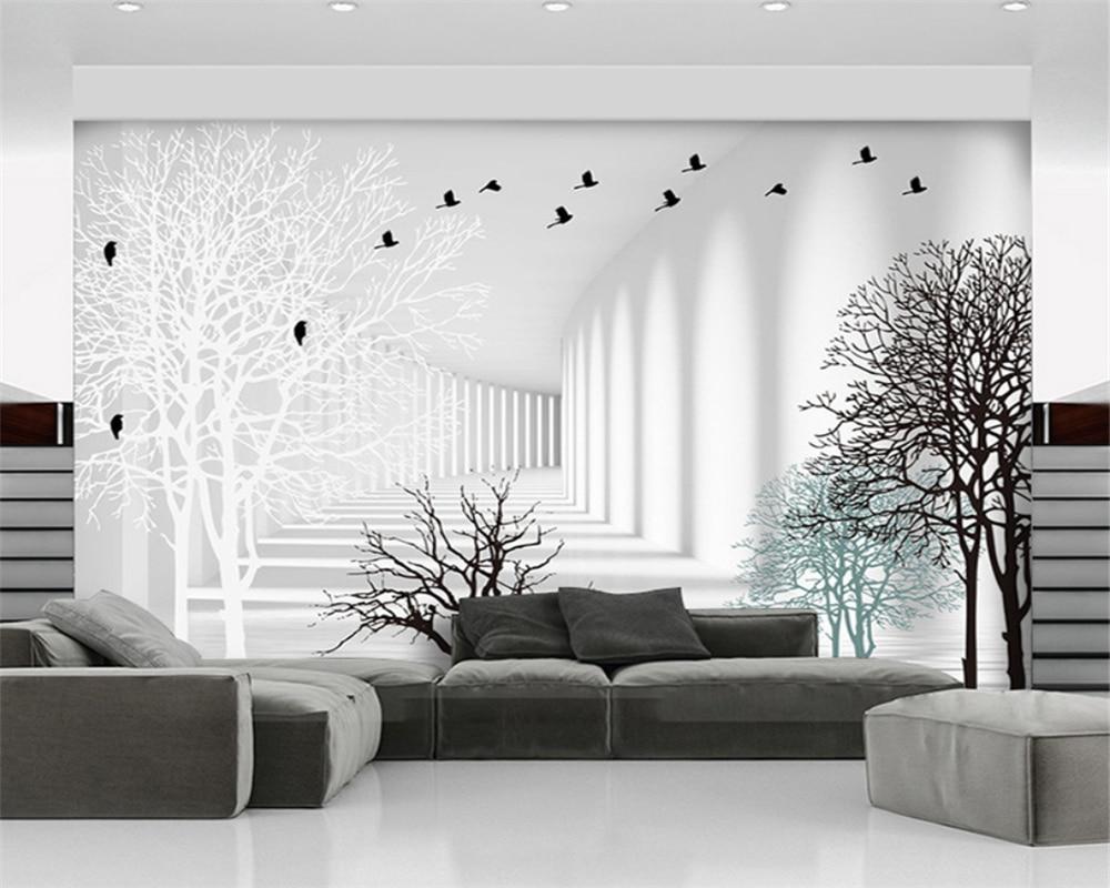 Обои beibehang на заказ, современные обои для гостиной, абстрактные 3D-обои для коридора, телевизора, бумажные обои