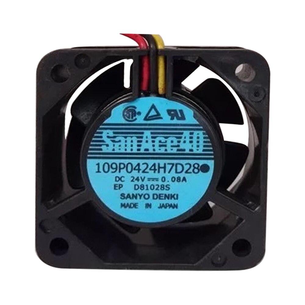 109P0424H7D30 24V 0.08A оригинальный SanAce40 Fanuc токарный станок с ЧПУ силовой вентилятор