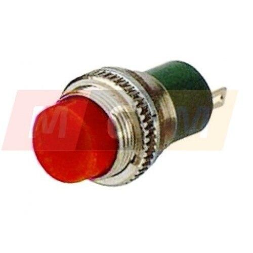 Botón redondo sin fijación mini Bosch 12V (amarillo)