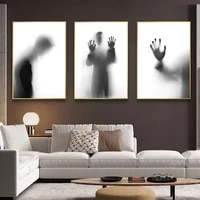nordic minimalist black and white shadow canvas prints posters wall art canvas paintings pictures for bedroom home decoration