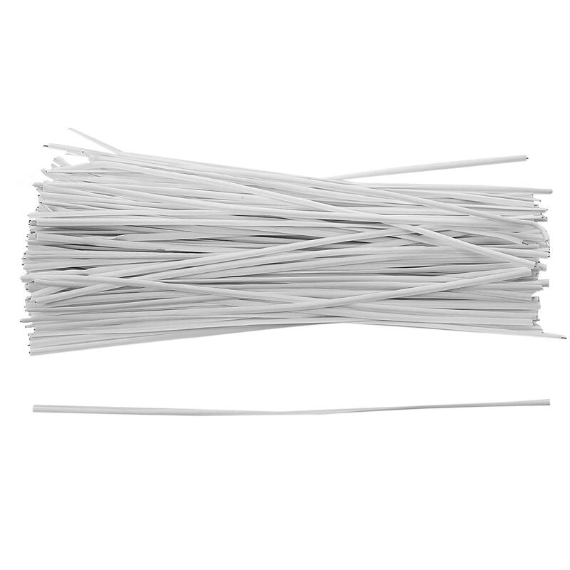 130 Uds., organizador de cables, ataduras de alambre de embalaje, blanco, 150x2.2mm