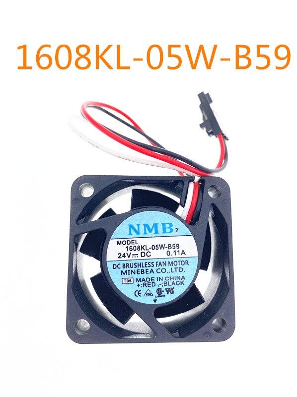 Para NMB-MAT 1608KL-05W-B59 LQ7 Servidor Ventilador de Refrigeração DC 24V 0.11A 40x40x20mm