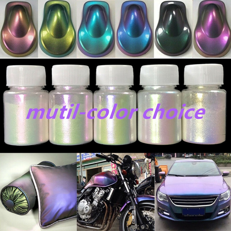 10g Chameleon Pigments Paint Powder Coating Dye For Car Automotive Painting Decoration Arts Craft Nail Painting Supplies