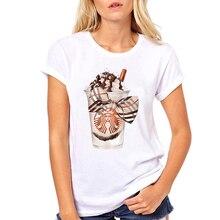 Femmes vêtements dessin animé café amour mignon été Ulzzang dames femme Harajuku esthétique haut T-Shirt décontracté chemise T femme T-shirt