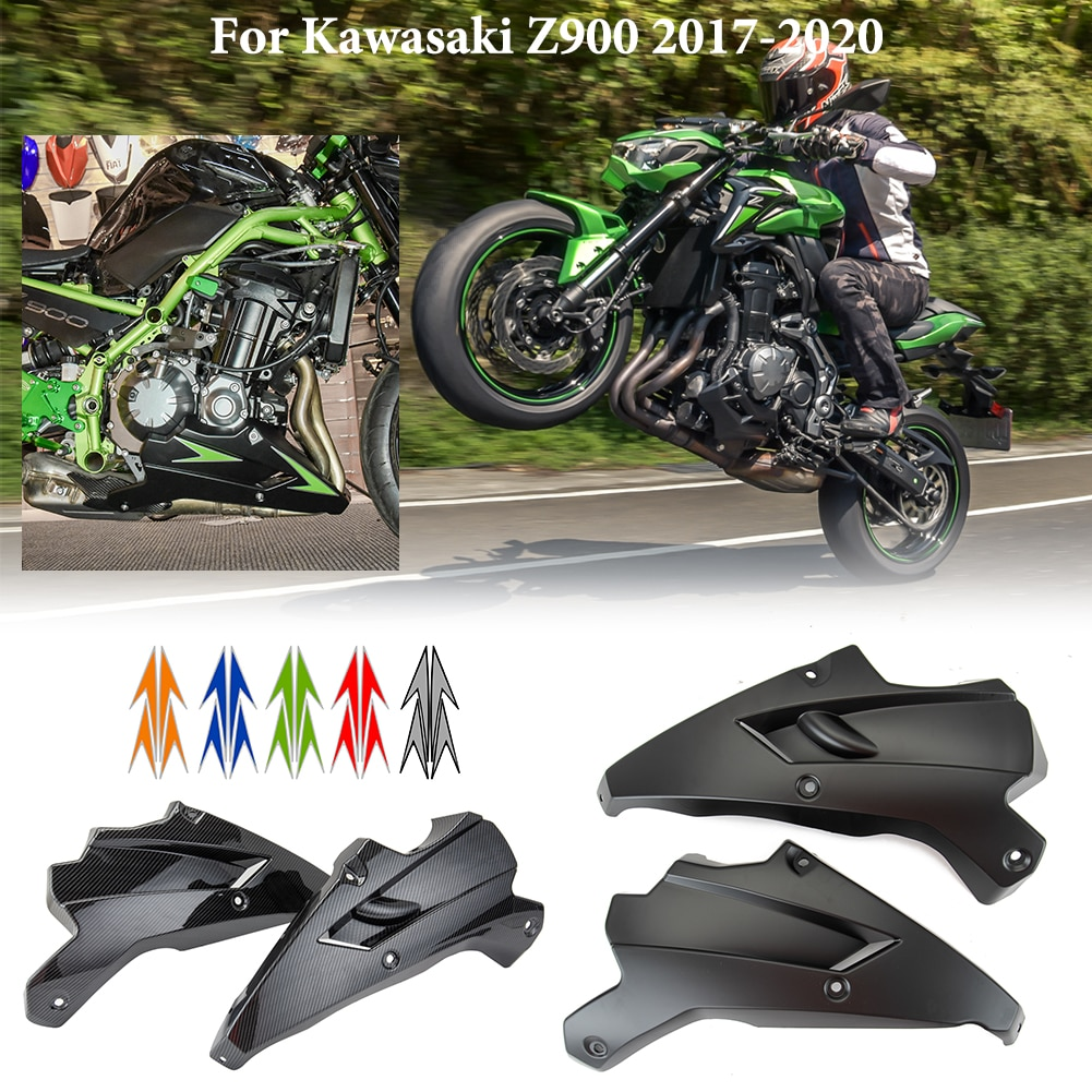 Motorcycle Belly Pan Bellypan Engine Spoiler Lower Fairing Body Frame Panel for 2017 2018 2019 Kawas