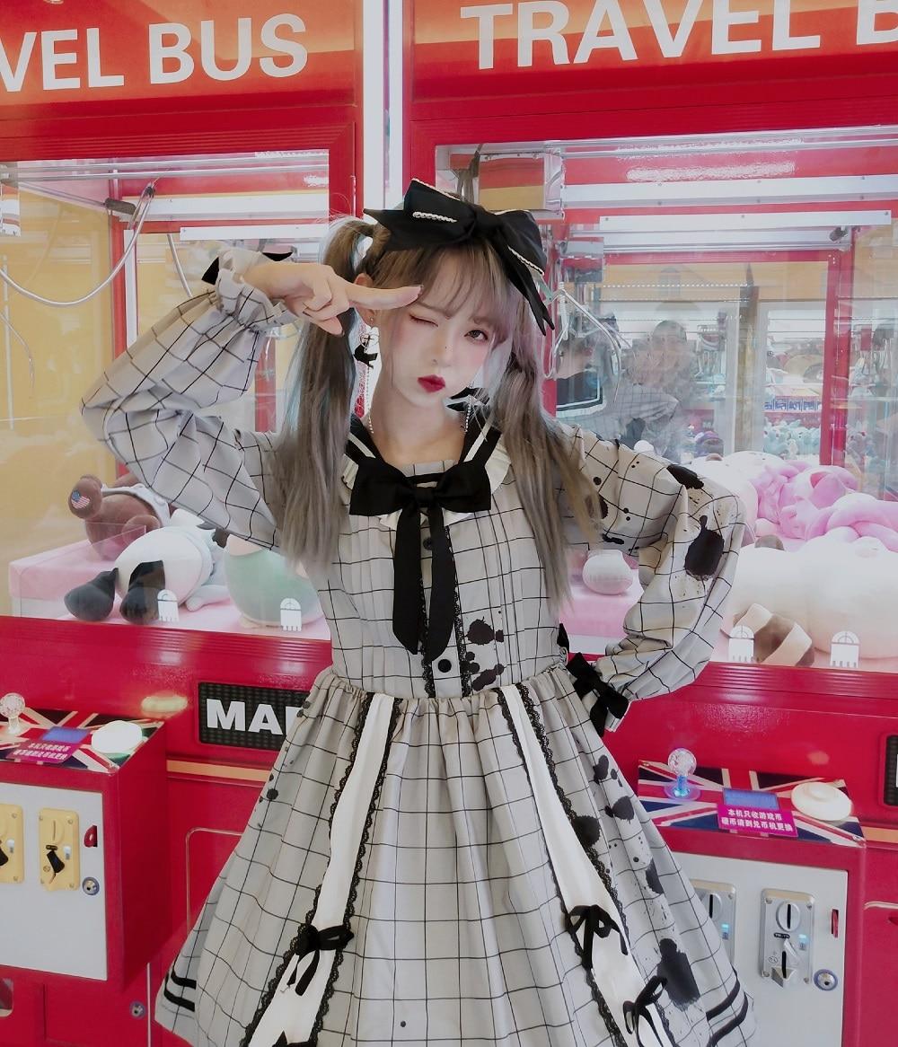 Loita suave hermana verano lolita jk uniforme mujer estilo universitario vestido de alta cintura victoriana vestido kawaii girl gótico lolita op