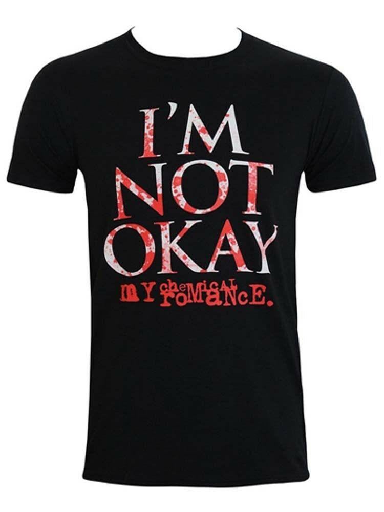 Mi Romance químico no estoy bien Splatter camiseta grande para hombre nueva moda oficial hombres camisetas impresas
