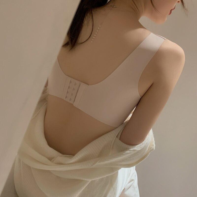 Japanese Seamless Underwear Women's Wireless Beauty Back and Push up Small Chest Bra Thin Anti-Saggi