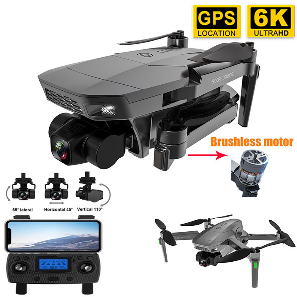 New SG907 MAX PRO Professional GPS Drone With 6K 3-Axis Gimbal Camera Brushless Motor WiFi FPV RC Dr