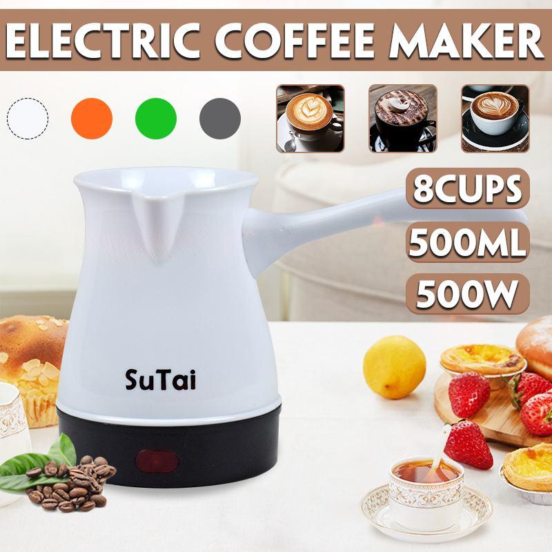 8 tazas 500W Mini calentadores eléctricos estufa caliente placa leche Agua café té calefacción horno multifunción cocina electrodoméstico