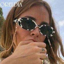 Vintage Oval Sunglasses 2021 Women Colorful Lens Sun Glasses Shades Eyewear Lady Brand Designer Smal